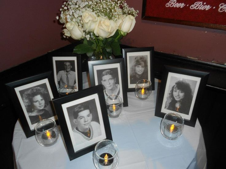 high school reunion memorial table