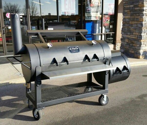 This Is A Diameter Cart Smoker. It Has A Long Cooking Chamber X Long  Firebox On Castor Wheels! Great For Cookoffs Or On The Patio!
