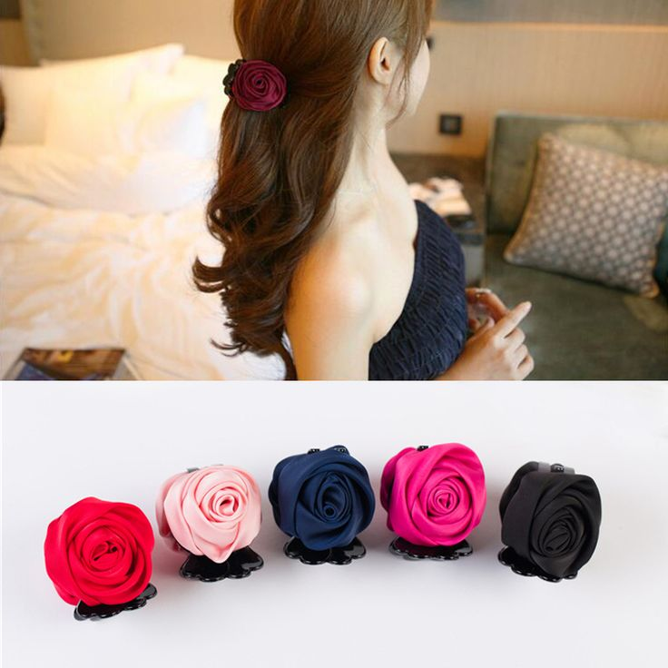 Sale Elegant 2016 New Plastic Teeth Girls Rose Flower Headwear Women Hair Claw Clips Female Hair Accessories