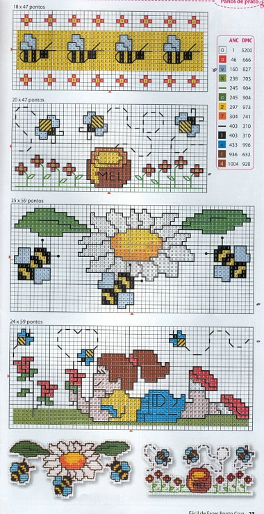 Bordi api a punto croce punto croce cross stitch for Ape punto croce schema