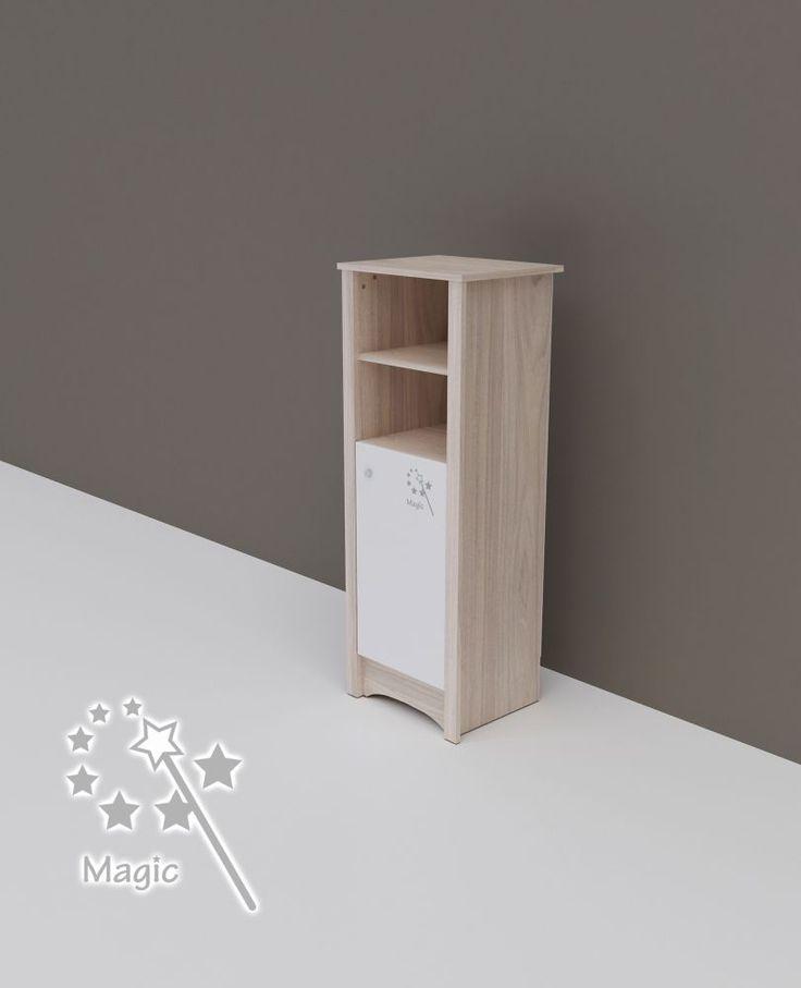 Todi Magic keskeny nyitott polcos + 1 ajtós szekrény, Todi Magic keskeny nyitott polcos + 1 ajtós szekrény, Zsebi Babaáruház