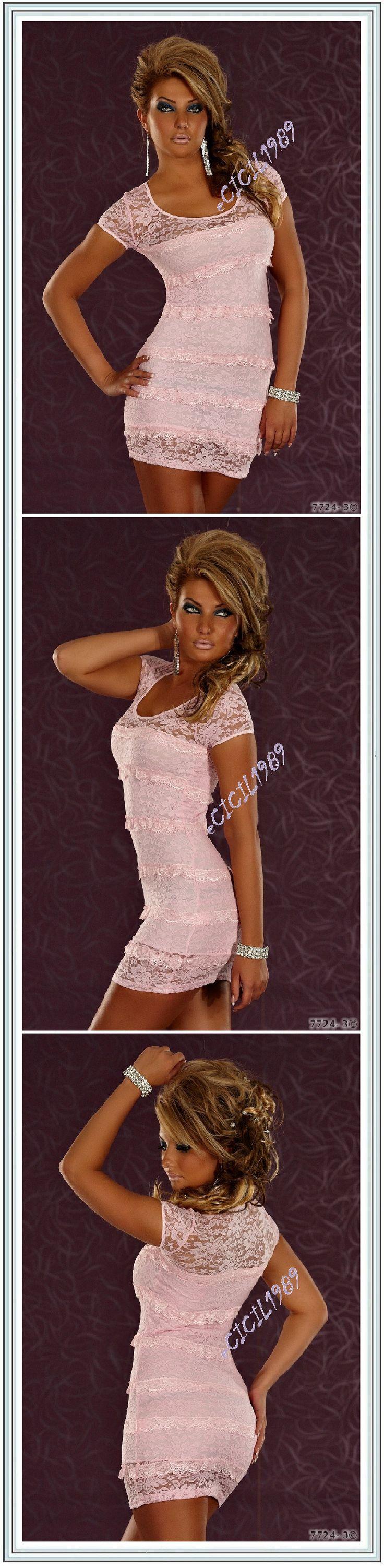 MUY SEXY MINI VESTIDO / TOP ESTIVAL BLONDA rosa T 36/38   eBay
