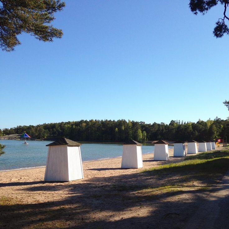 Plagen beach in Hanko, Finland