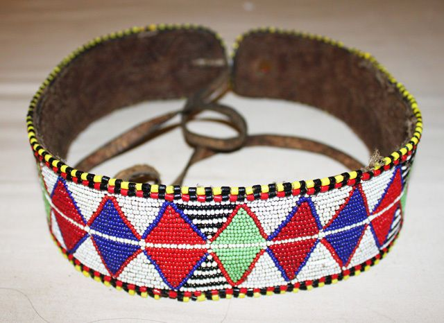 African Antique Maasai Masai Beaded Ethnic Tribal Beaded