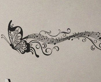 Butterfly Music Notes