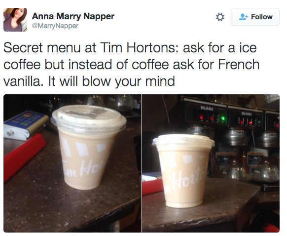 Add flavour shots because why the hell not? | 13 Secret Orders You Can Totally Ask For At Tim Hortons
