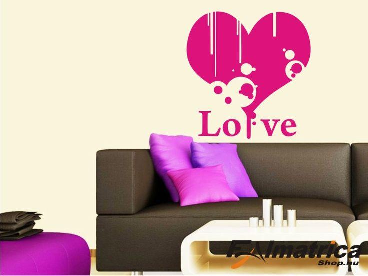 11. Love-szív falmatrica