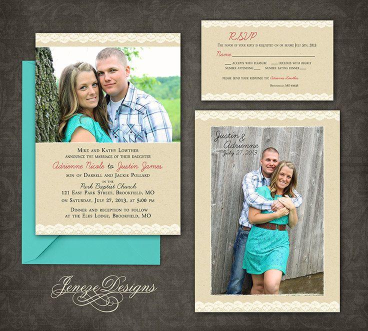 Mejores 17 imágenes de Wedding Invitation Ideas en Pinterest | Ideas ...
