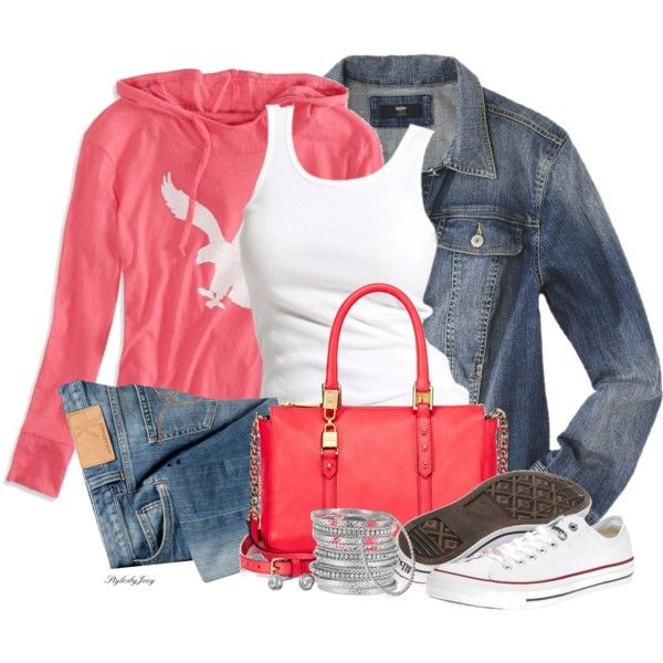 Comfy Look Outfit: Casual Friday, Woman Fashion, Fall Fashion Outfits 2012 19, Jeans Jackets, Fashionista Trends, Toms Shoes, Outfits Ideas, Coral Comforter, Casual Outfits
