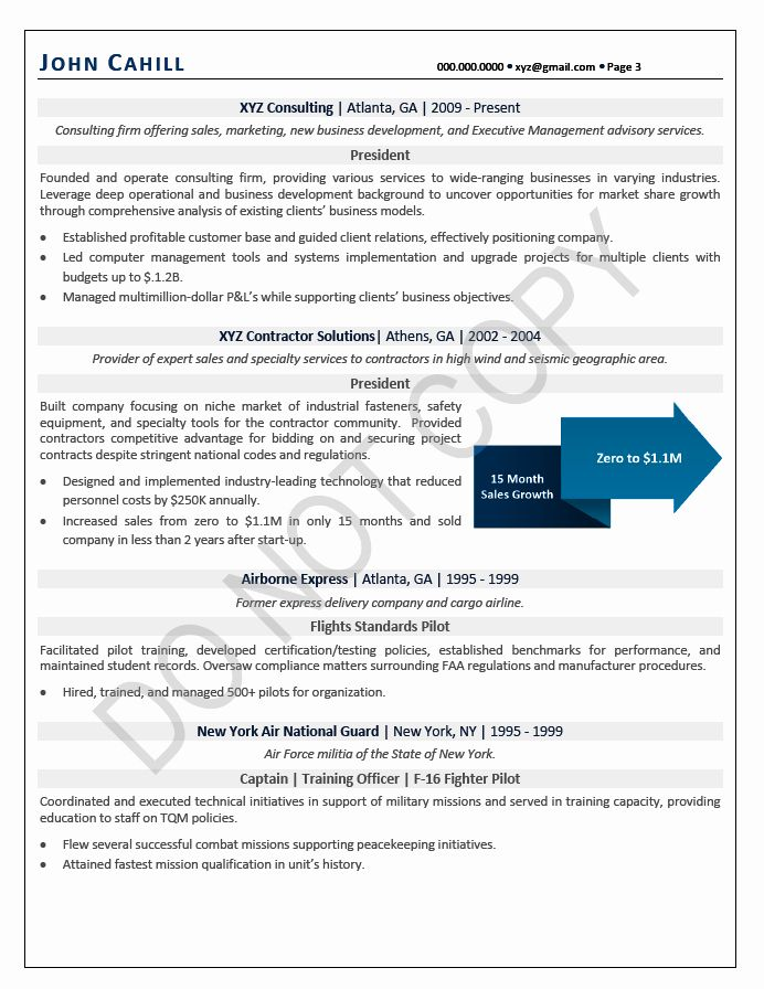 Chief Operating Officer Resume Fresh Executive Resume Sample In 2020 Resume Examples Good Resume Examples Chief Operating Officer