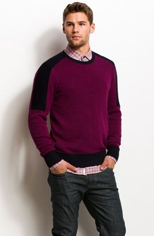 Colorblocked Crewneck Sweater - 30% Off All Sweaters - Mens - Armani Exchange