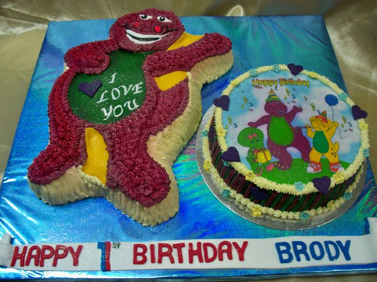 Barney the Dinosaur cake for Brody www.frescofoods.co.nz Email: fresco@woosh.co.nz