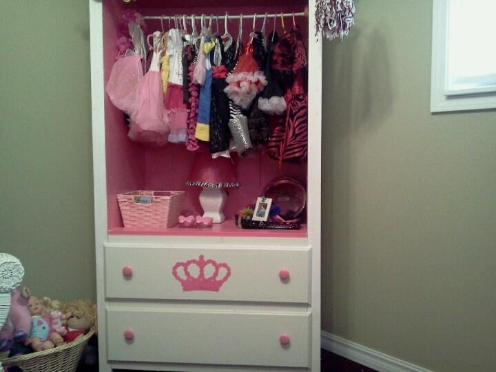 girls dress up cabinet girls bedroom pinterest dress