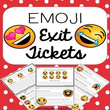 These Emoji exit tickets are a fun way to assess student understanding of the lesson and definitely engaging for students!  There are 6 pages of with two different exit ticket styles on each page, including a blank exit ticket.                                     You may also like these products from my store:Emoji Number Posters Brag Tags A-Z Alliteration with Bonus Editable Templates COLOR VERSIONHomeschool Brag Tags with Editable Pages GIRL COLOR EditionYoga Brain Breaks and Positive Affir...