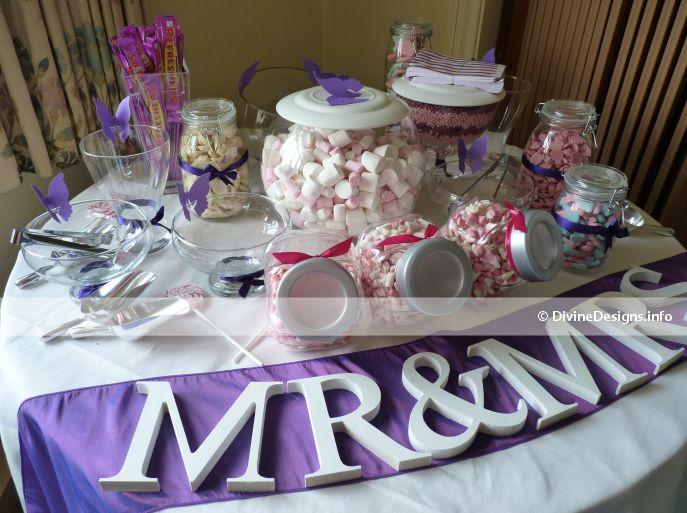Cadbury Purple Wedding Themes Sweet Tables Bridal Bouquets Colours