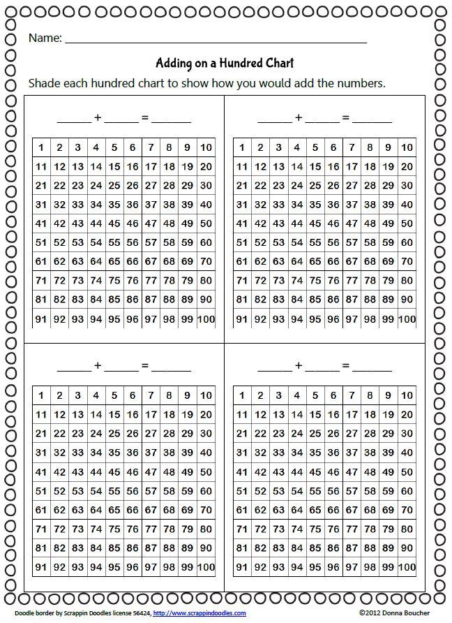 Recording Addition on a Hundred Chart Teach Pinterest Math
