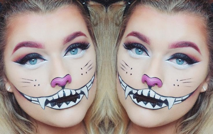 tutorial for this halloween cheshire cat look will be up on my channel today at 4pm uk time  progressively getting more halloweeny  Tuesdays tutorial will be a lot scarier  link to my channel in bio ⤴️