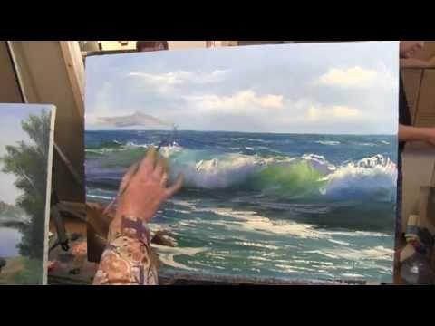 Научиться рисовать море, волну, курсы живописи в Москве - YouTube