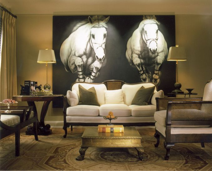 equestrian living room this award winning living room placed in the detroit 10511