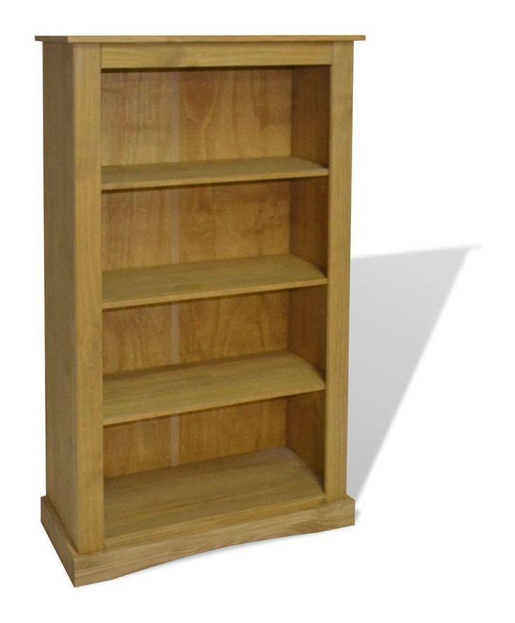 Etagere Armoire Meuble Design Bibliotheque A 4 Niveaux Pin 150 Cm