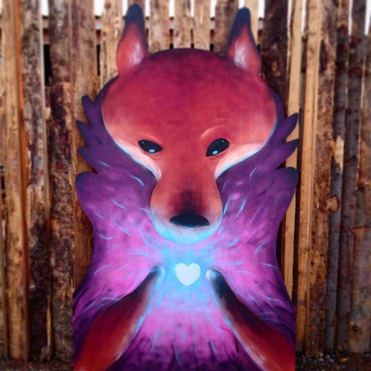regram @pingriff More strange spraypaint art for #nozstock2017 . Didn't have a plan when I started this I just fancied painting a fox.  #nozstock #festival #fox #painting #spraycan #spraypaint #art #dailyart #artwork #spraycanart #artist #ukartist #fantasyart #fantasy #characterdesign #cartoon