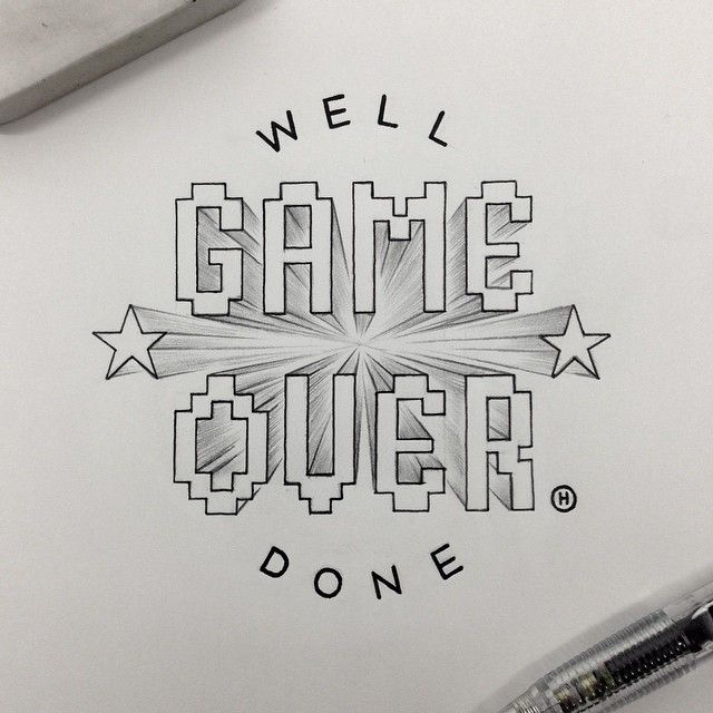 Instagram media by anthonyjhos - Aaaaand it's over. Goodbye to the week that was. Friday. #tgif #typography #handdrawn #handtype #handlettering #lettering #graphicdesign #doodle #goodtype #typespire #typographyinspired #thedailytype #caligritype #gameover