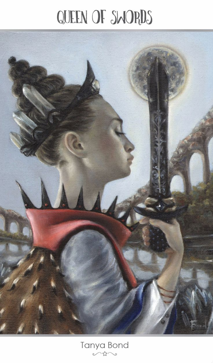 Featured Card of the Day - Queen of Swords - 78 Tarot Astral ~ Tarot in Space