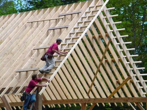 Hanging The Quot Barge Quot Rafter House Framing Pinterest