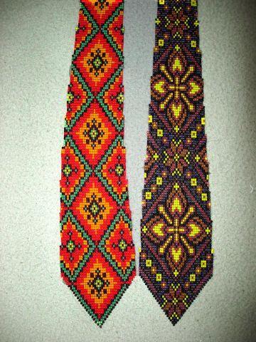 Плетение галстука на станке. Часть 1 | biser.info - всё о бисере и бисерном творчестве