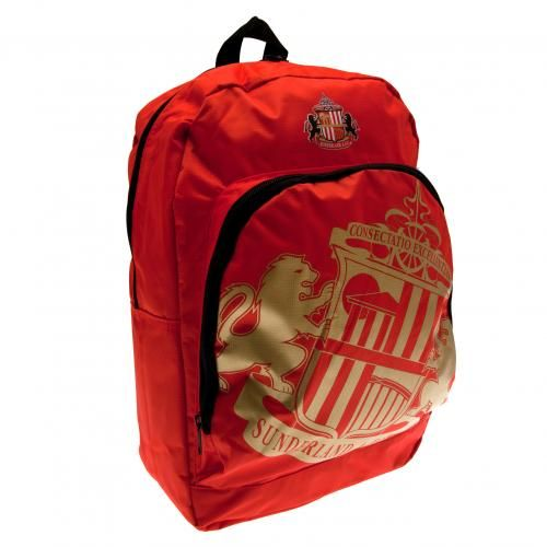 - nylon backpack- adjustable shoulder straps- approx 40cm x 30cm x 14cm- zipped front pocket- with a swing tag- official licensed product. #SAFC #backtoschool