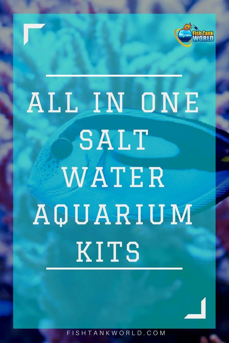 All in one Aquarium kits. Saltwater aquarium kits for beginners, an easy way to start with saltwater fish tanks via @fishtankworld0195 #fishtank