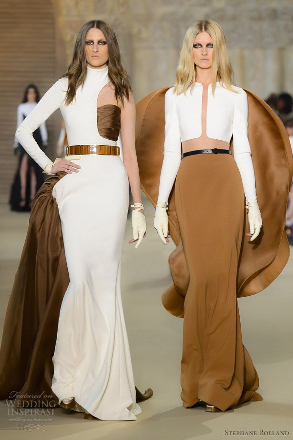 stephane rolland fall winter 2012 2013 couture color sleeve gowns color block