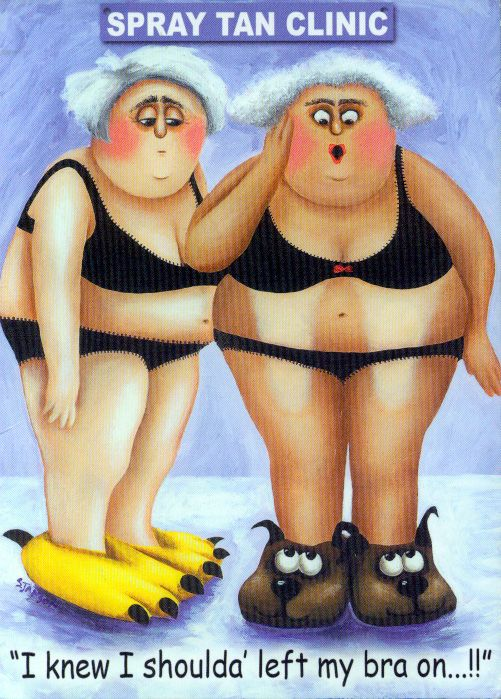 A spray tan does help a business woman look healthier but sometimes hmmm.....  #humor