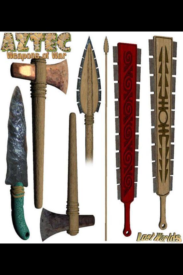 Aztec weapons | Guerreros | Pinterest | Aztec and Weapons