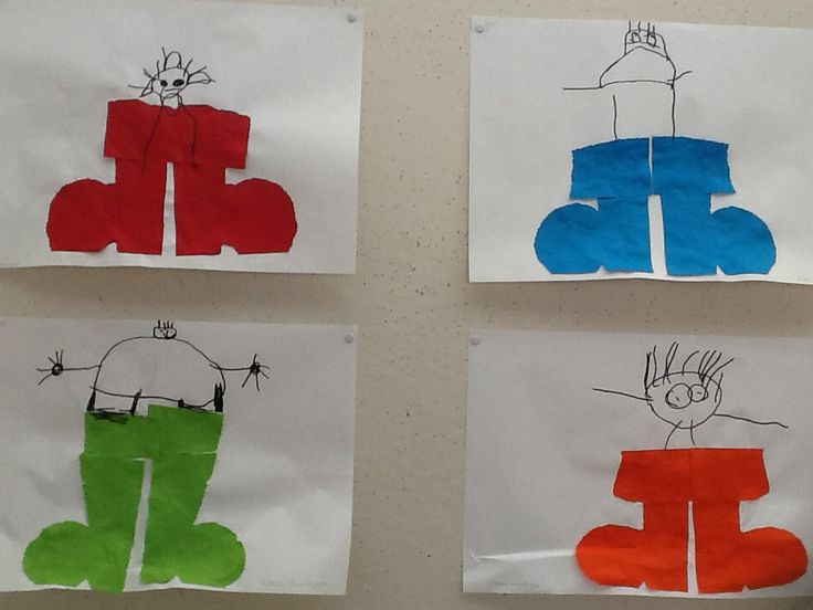 Groep 1: dubbel prikken en tekenen met zwarte pen. Klein duimpje.