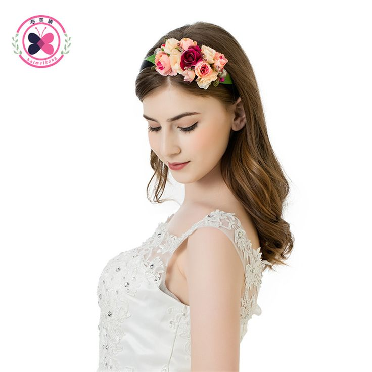 >> Click to Buy << Double Layer Flower Hairband Bridal Wedding Garlands Hair Accessories Women Fashion Handwork Floral Crown Wreath Headwear #Affiliate