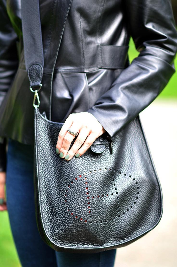 Hermes Evelyne in black - fantastic bag one of my favorites.  #fashionfunction