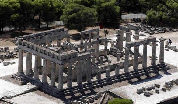 Archaeological sites in Aegina