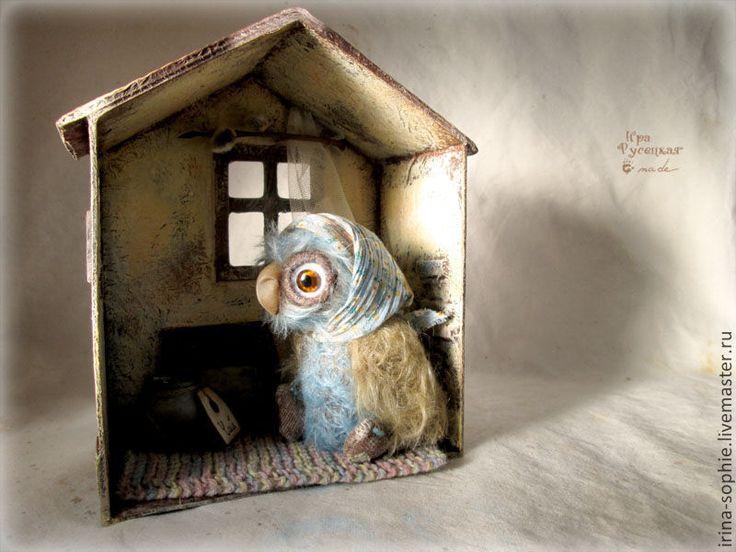 Купить Домик для совы. Тедди. - домик, домик для кукол, тедди, миниатюрная мебель, миниатюра для кукол