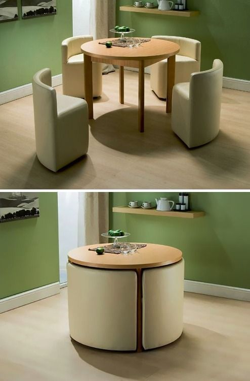 Nice table for a small kitchen.