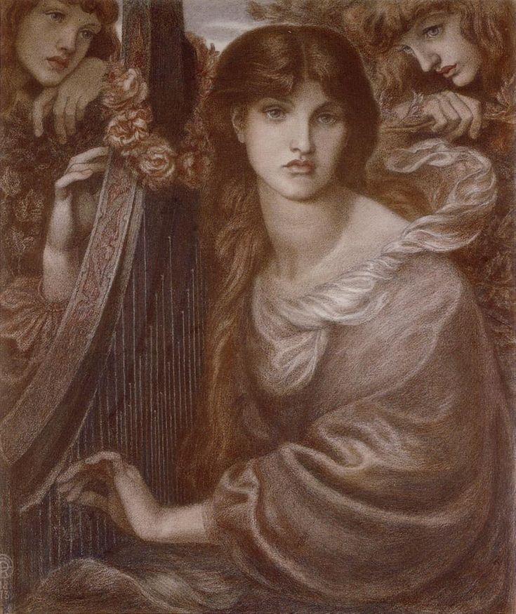 Dante Gabriel Rossetti : La Ghirlandata 1873 http://www.the-athenaeum.org/art/display_image.php?id=53238