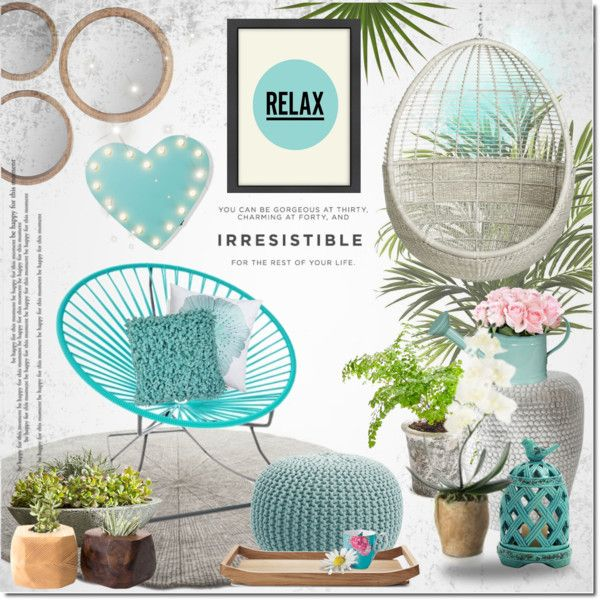 Relax by justlovedesign on Polyvore featuring interior, interiors, interior design, home, home decor, interior decorating, Nearly Natural, CB2, Innit and Campania International