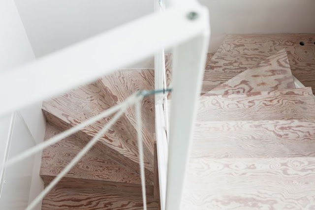 La maison d'Anna G.: Contreplaqué: Cherries Blossoms, Trends Malmö, Loft Stairs, Floors, Plywood Stairs, Trappa Plywood, Bangs, Interiors Decor, My Scandinavian Home