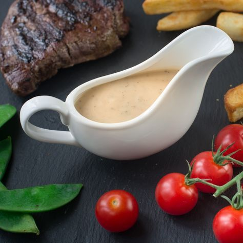 Easy Peppercorn Sauce My quick and easy peppercorn sauce recipe. It's made without cream, instead using milk and other common store cupboard and fridge ingredients so you can whip it up whenever yo…