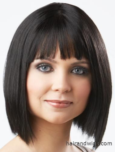 Seductive  is a classic full bang razored bob that ends just above the shoulders for a clean contempt style www.hairandwigs.com