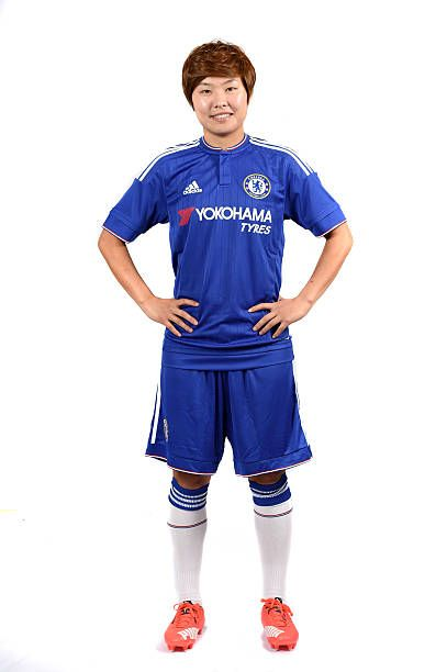 Chelsea Ladies Ji So Yun during the Photocall at the Cobham Training Ground on 13th July 2015 in Cobham England