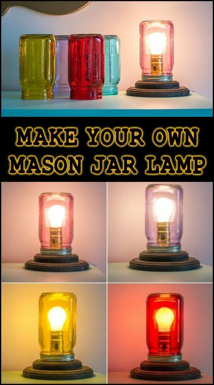 How To Make A Customisable Table Lamp Out Of A Mason Jar With