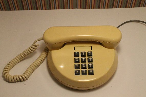 Vintage round telephone pushbutton Telephone by ClockworkRummage, $33.25