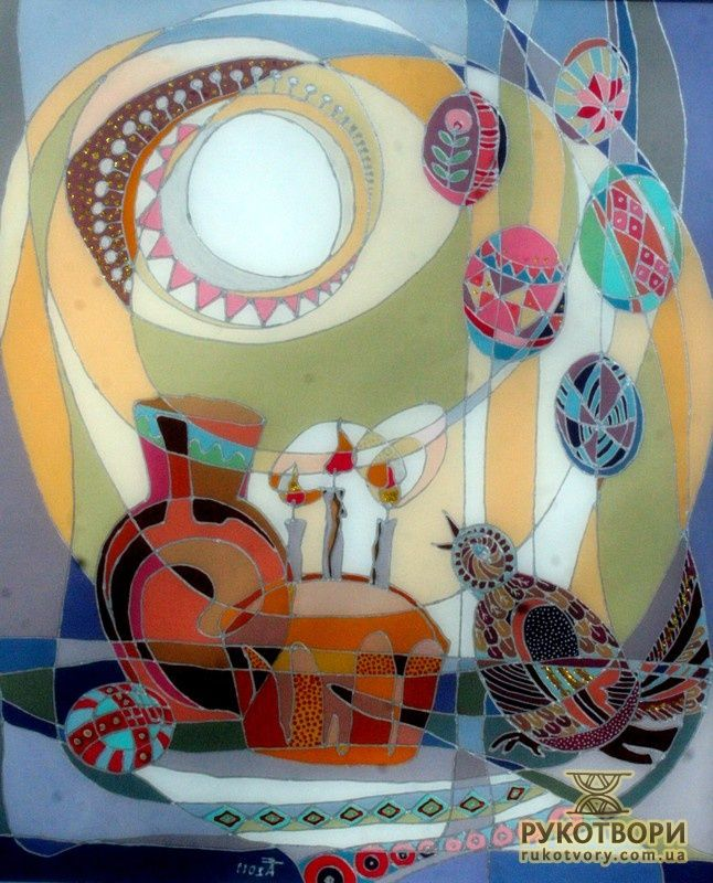 Wonderful glass paintings by brilliant Ukrainian artist.