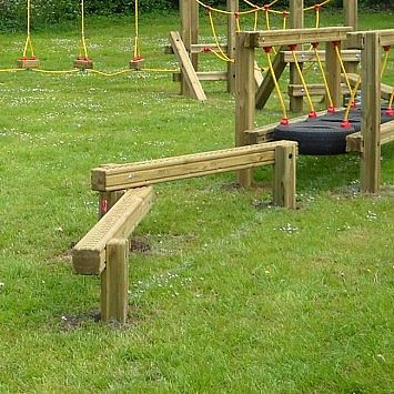 Balance Beams are a great way for children to test their balancing skills and can be used as standalone playground equipment or as part of a Children's Trim Trail